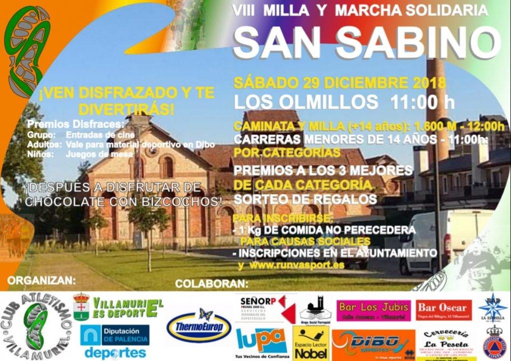 VIII Milla y Caminata Solidaria San Sabino - Palencia - 2018