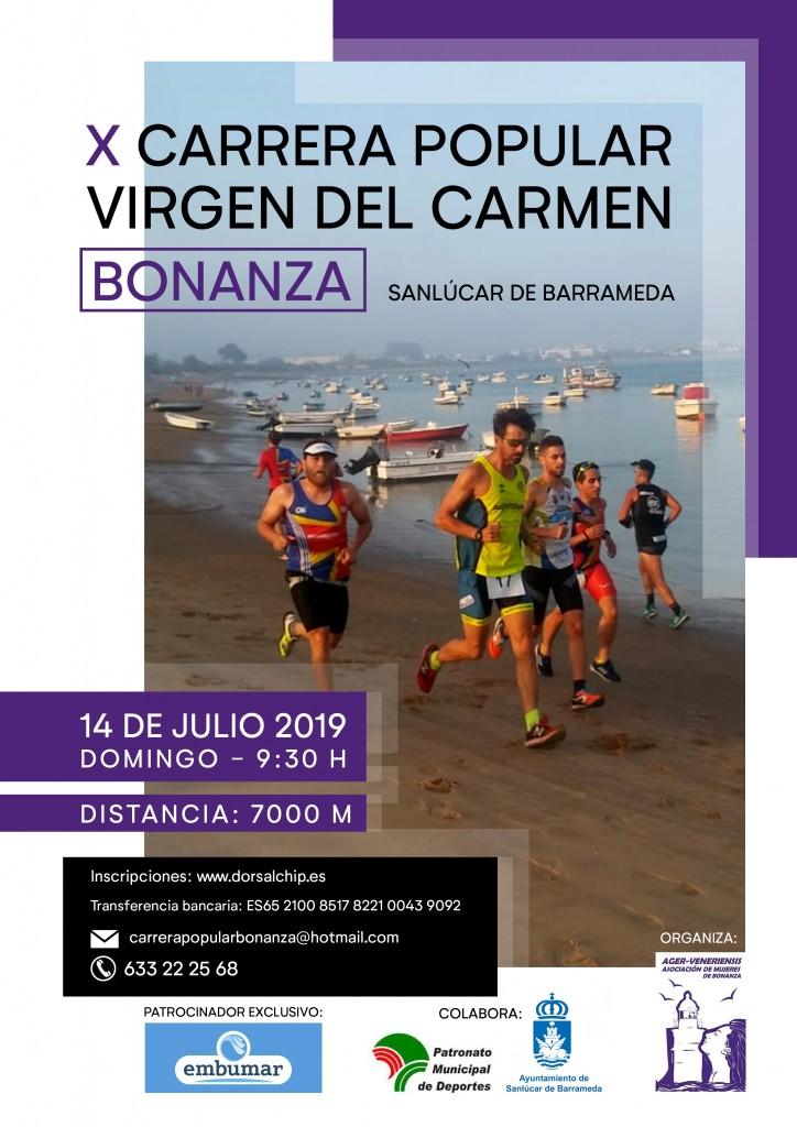 X Carrera Popular Virgen del Carmen de Bonanza - Cádiz - 2019