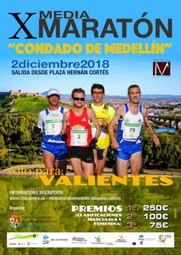 X MEDIA MARATON CONDADO DE MEDELLIN - Badajoz - 2018