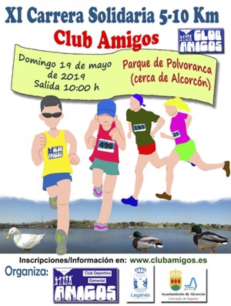 XI Carrera Solidaria Club Amigos - Madrid - 2019