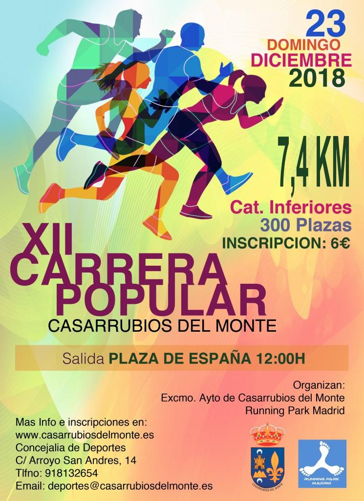 XII CARRERA POPULAR CASARRUBIOS DEL MONTE - Toledo - 2018