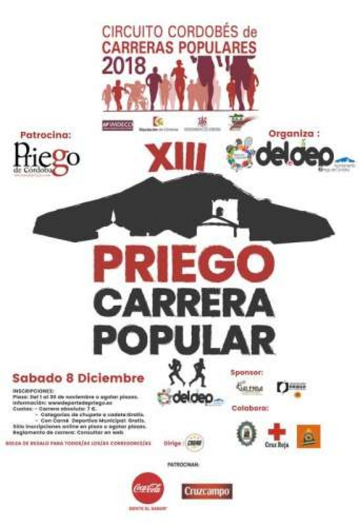 XIII CARRERA POPULAR CIUDAD DE PRIEGO DE CORDOBA - 2018