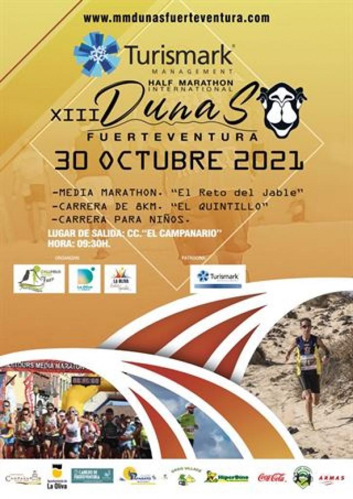 XIII Edición 1/2 Marathon Internacional Turismark Dunas de Fuerteventura 2021