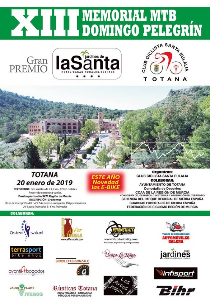 XIII MEMORIAL MTB DOMINGO PELEGRIN - Murcia - 2019