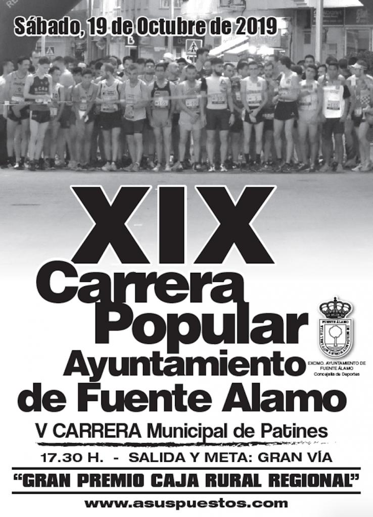 XIX Carrera Popular Ayuntamiento Fuente Álamo 2019 - Murcia