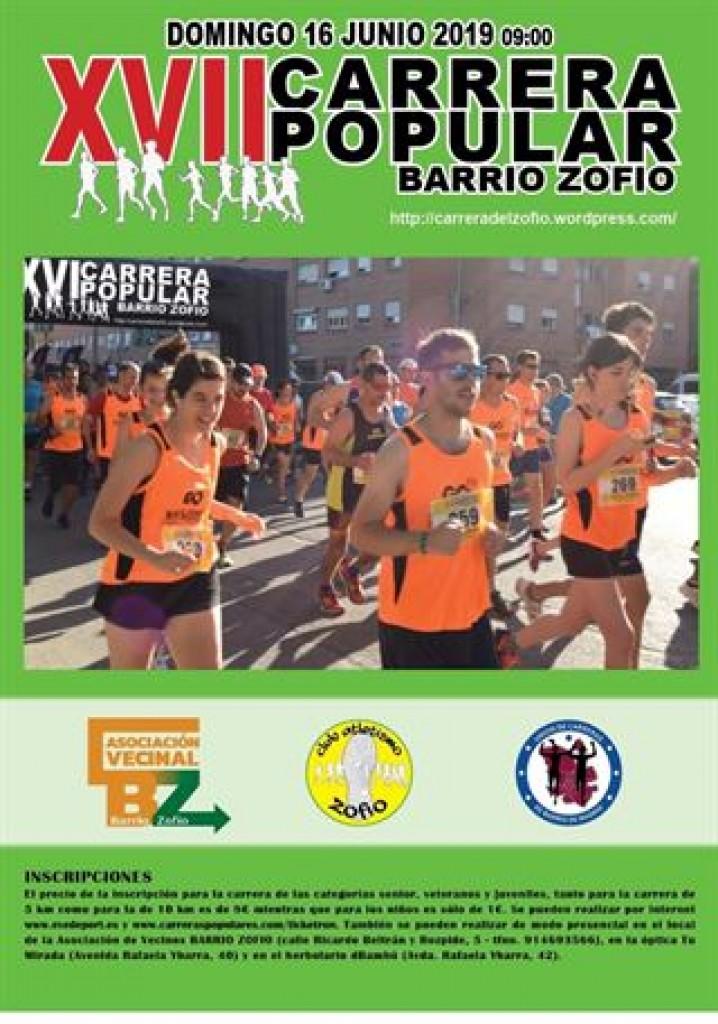 XVII Carrera Popular Barrio del Zofío - Madrid - 2019