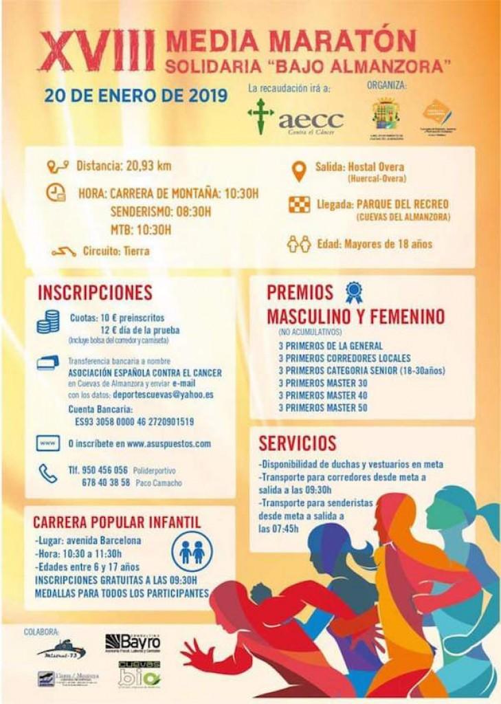 XVIII MEDIA MARATÓN SOLIDARIA BAJO ALMANZORA - Almería - 2019
