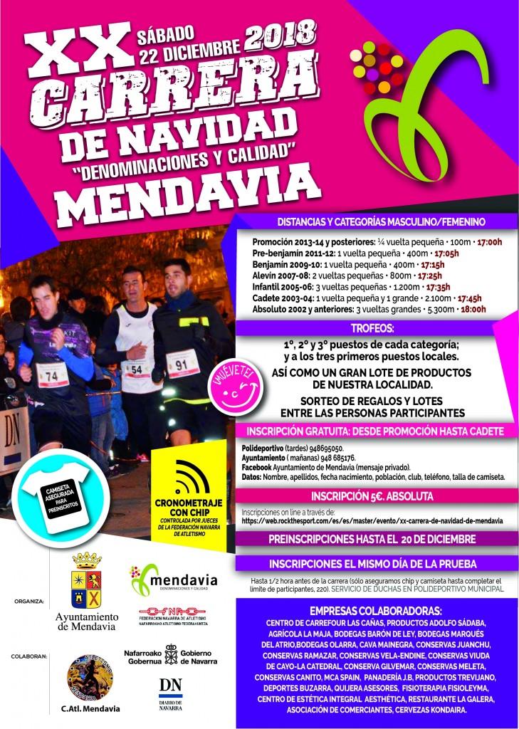 XX CARRERA DE NAVIDAD DE MENDAVIA - Navarra - 2018