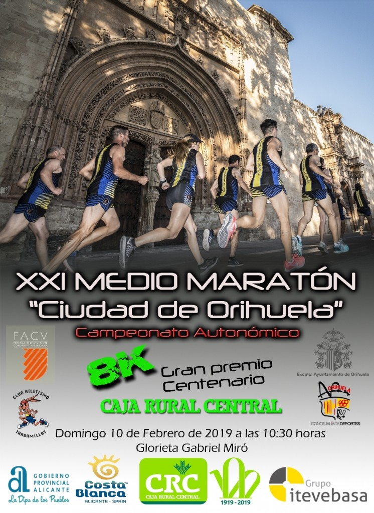 XXI MEDIO MARATÓN Y 8K CIUDAD DE ORIHUELA - Alicante - 2019