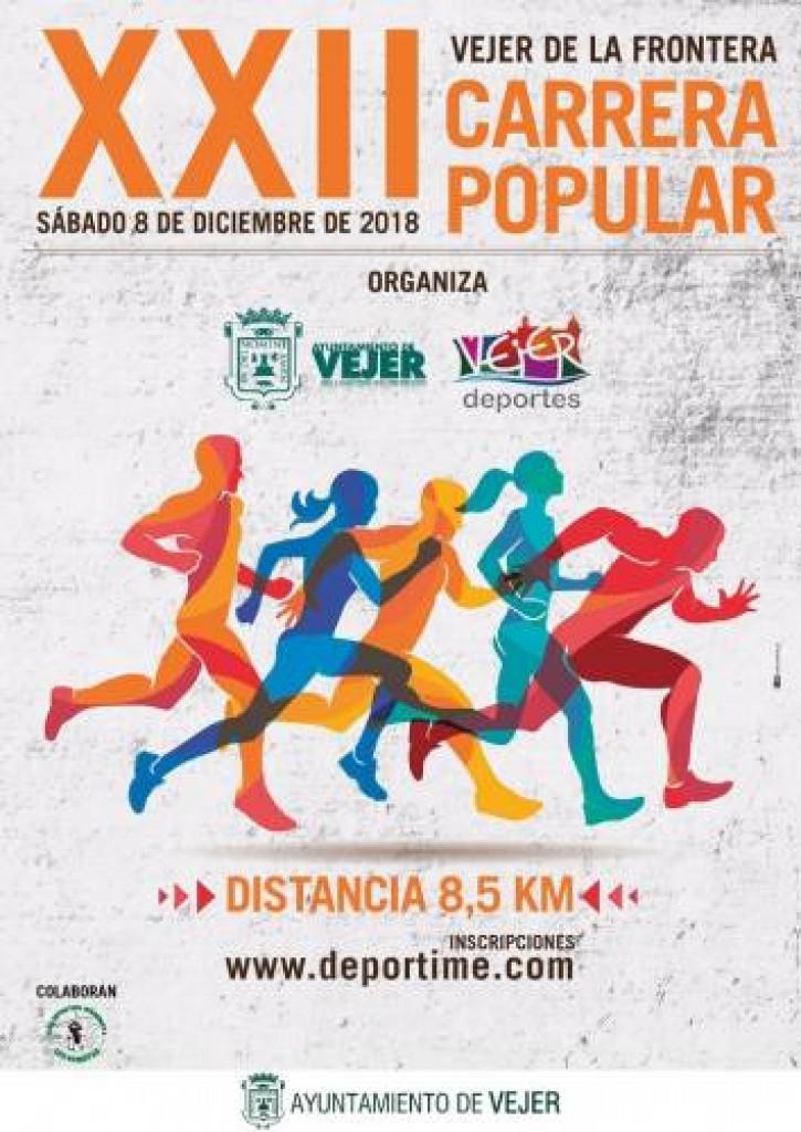 XXII CARRERA POPULAR CIUDAD DE VEJER - Cadiz - 2018
