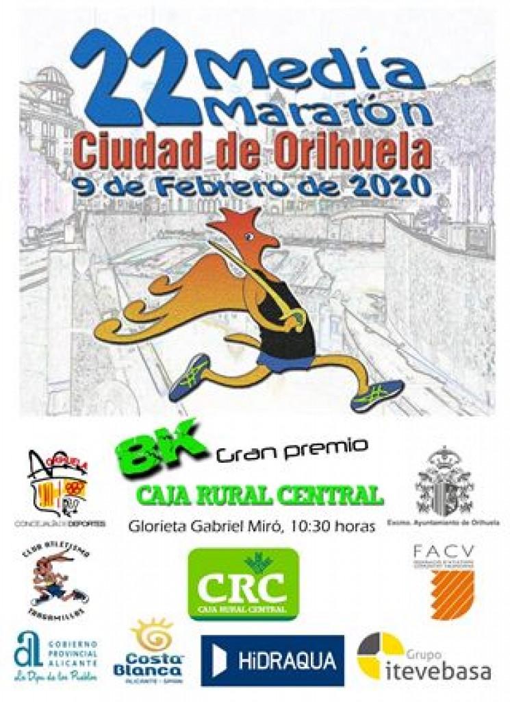 XXII MEDIO MARATÓN Y V 8K DE ORIHUELA - Alicante - 2020