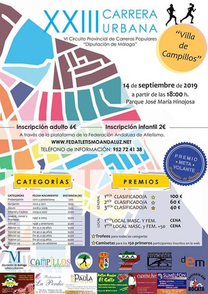 XXIII Carrera Urbana Villa de Campillos - Málaga - 2019