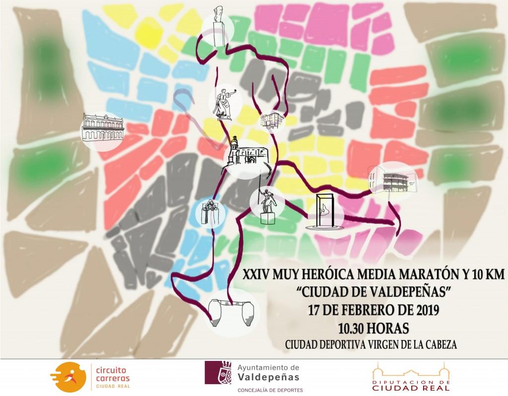 XXIV Muy Heroica Media Maratón Ciudad de Valdepeñas - Ciudad Real - 2019