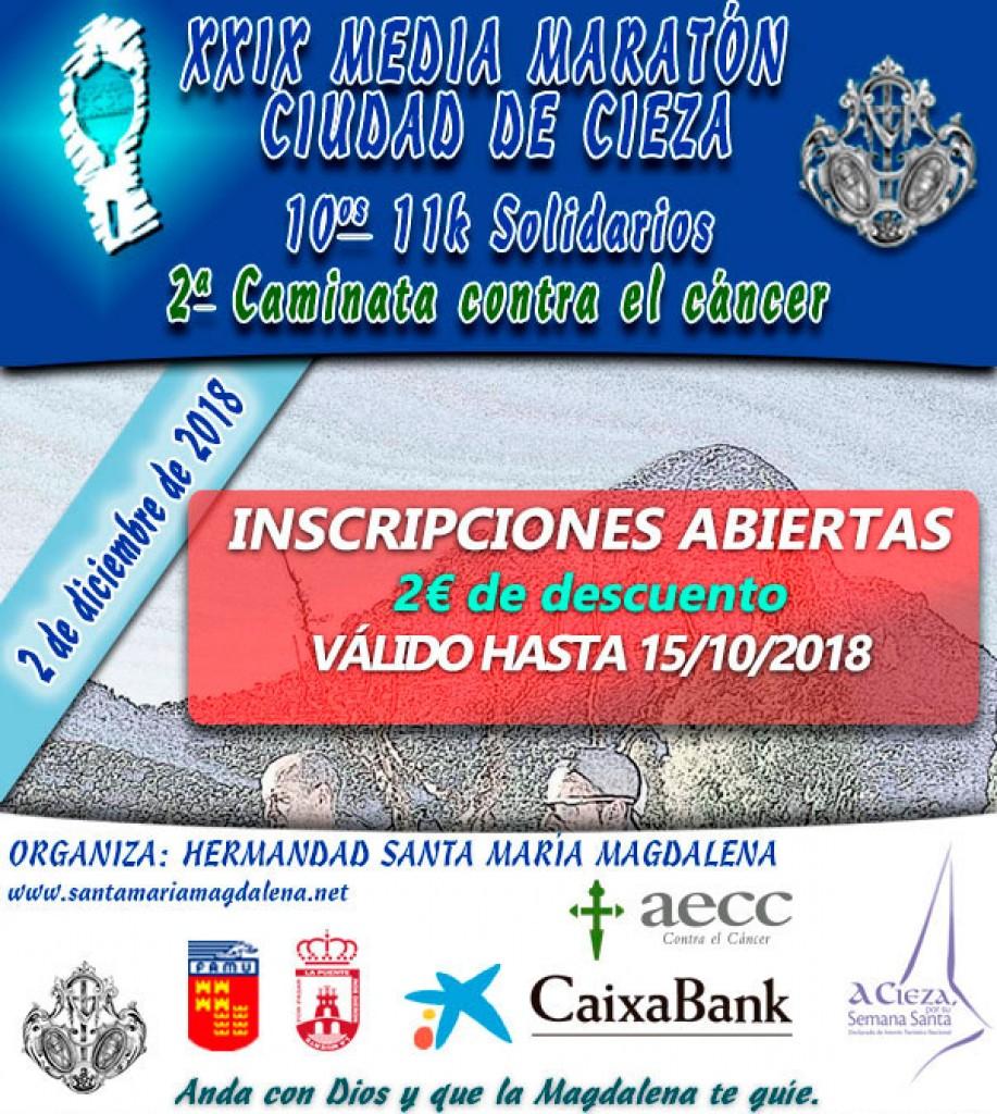 XXIX Media Maratón Ciudad de Cieza 2018