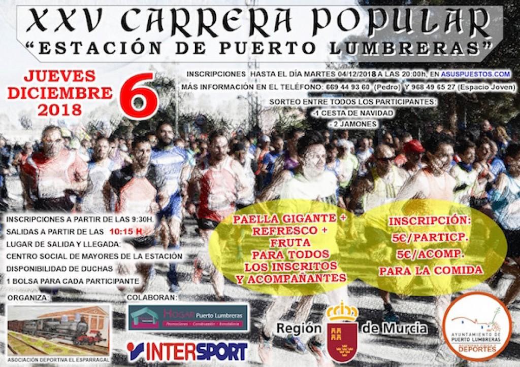 XXV CARRERA POPULAR ESTACION DE PUERTO LUMBRERAS - Murcia - 2018