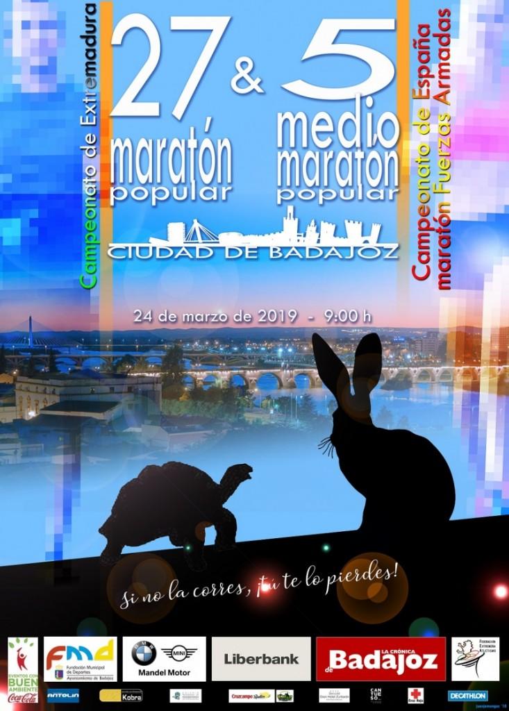 XXVII Maratón Popular Ciudad de Badajoz - 2019