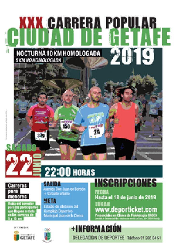 XXX Carrera Popular Ciudad de Getafe - Madrid - 2019
