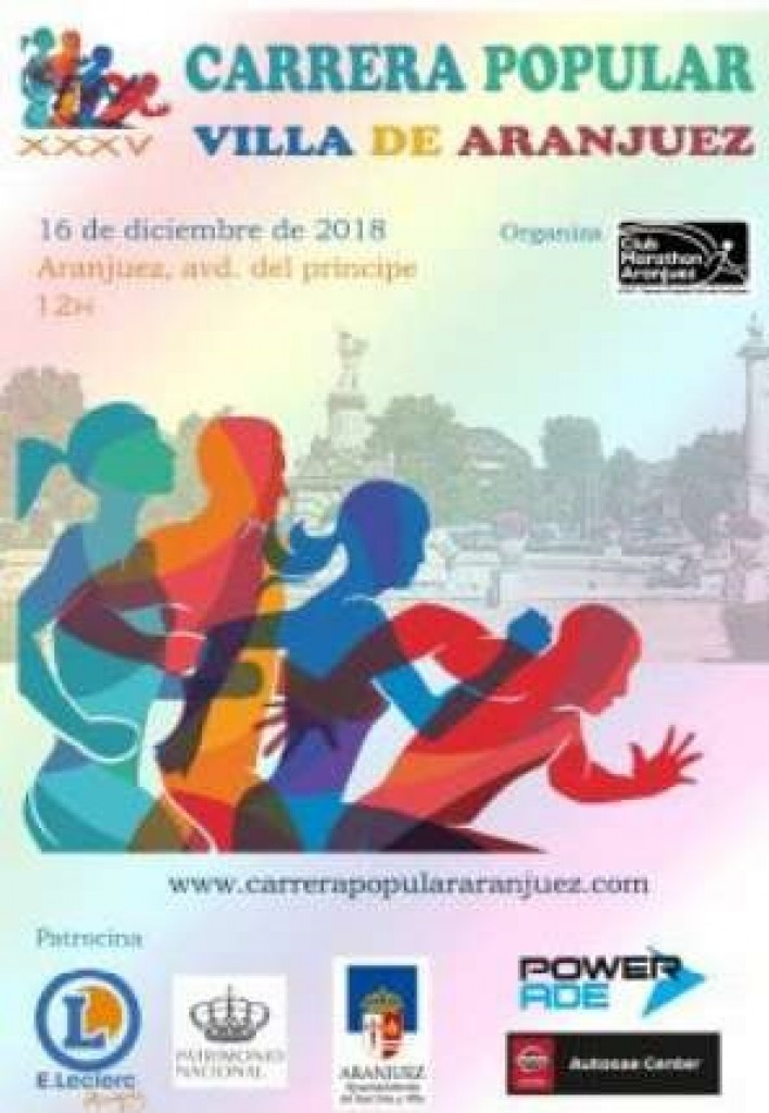 XXXV CARRERA POPULAR VILLA DE ARANJUEZ - Madrid - 2018
